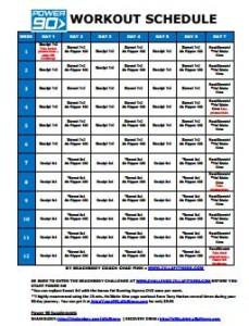 Power 90 Workout Schedule - zillafitness