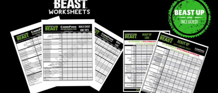 Body Beast Workout Sheets