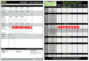 Improved Body Beast Workout Sheets