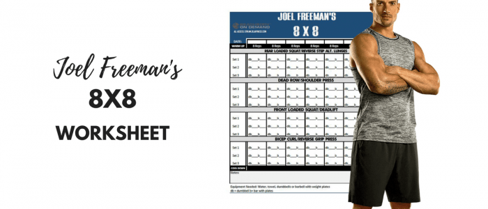 Joel Freeman's 8X8 worksheet