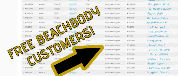 Free Beachbody Customers