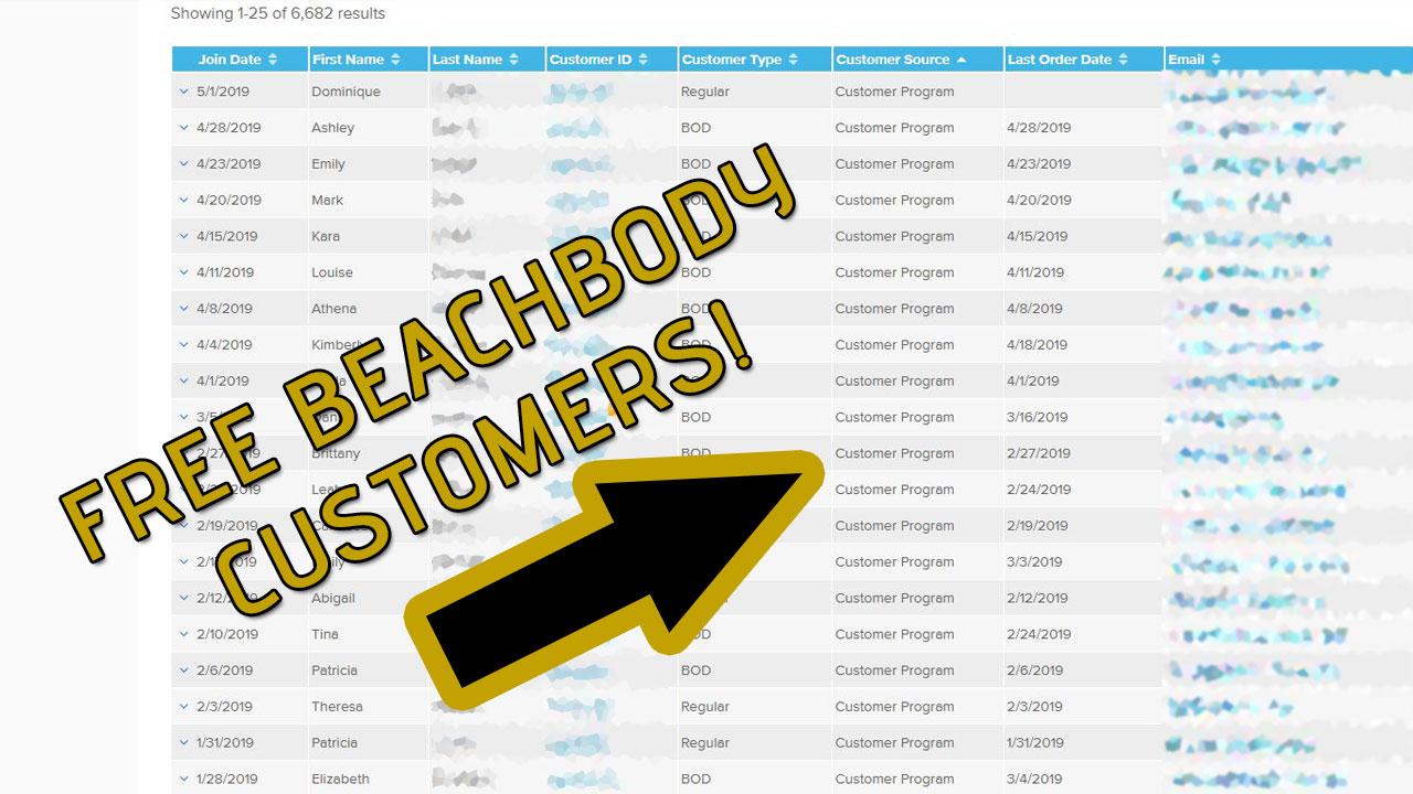 Free Beachbody Customers