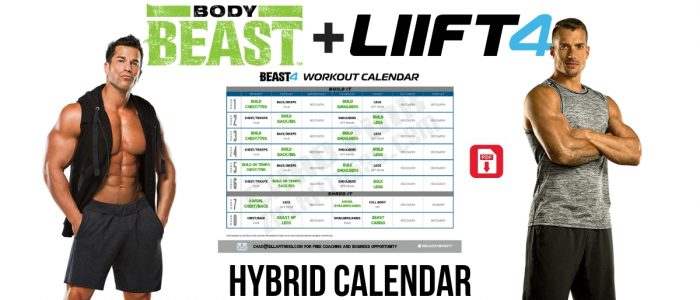 Body Beast LIIFT4 Hybrid Schedule