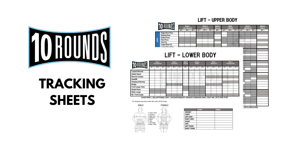 10 Rounds Tracking Sheet